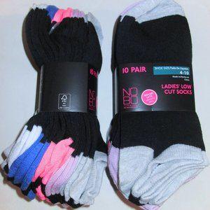 10 Pairs Womens No Boundaries NOBO Low Cut Socks